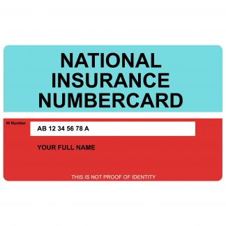 National Insurance Number Card