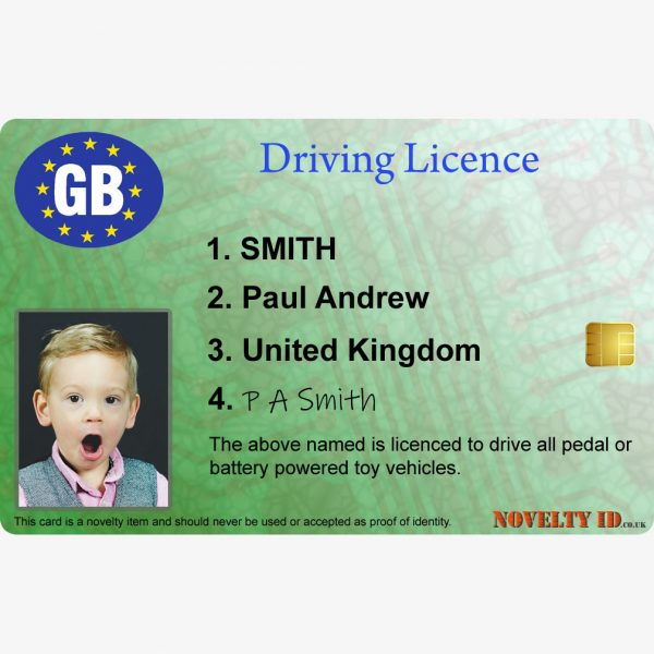 Kids Driving Licence