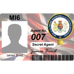 MI6 Secret Agent Licence